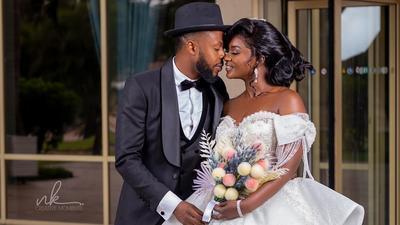 Kalybos and Ahuofe cause stir on social media with 'wedding' photos