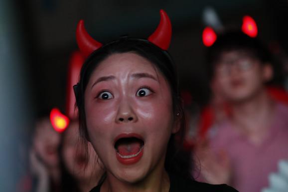 Oduševljenje navijačice Južne Koreje