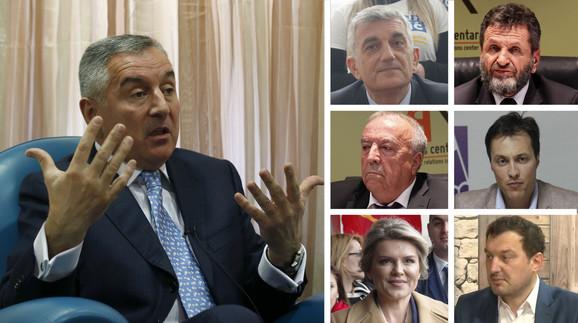 Milo Đukanović i njegovi protivkandidati na izborima