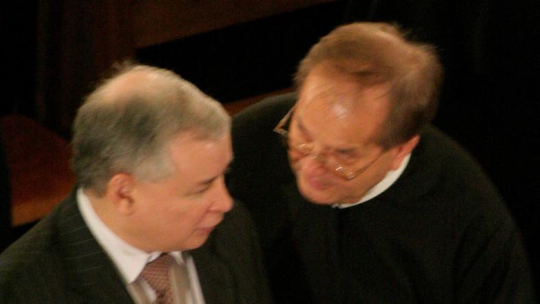 Jarosław Kaczyński i ojciec Tadeusz Rydzyk