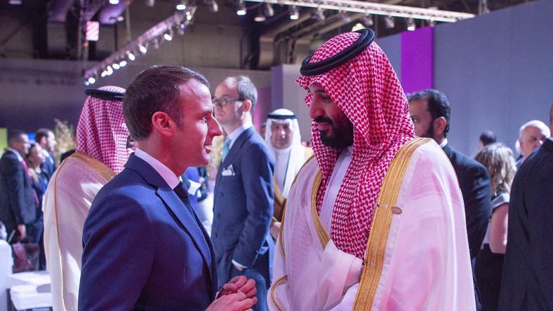 Emmanuel Macron i  Mohammad Bin Salman