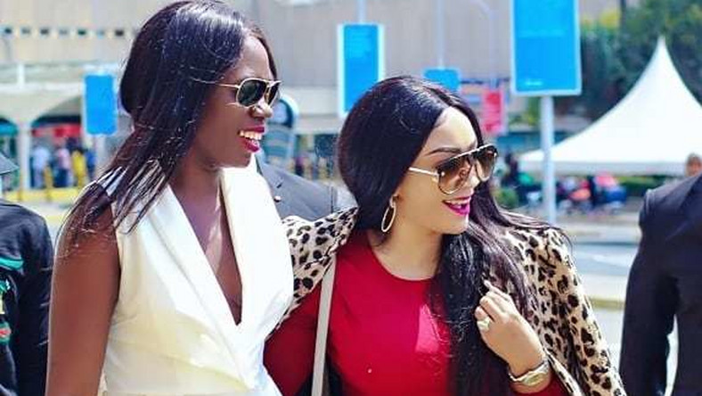 Zari Hassan with Akothee (Instagram)