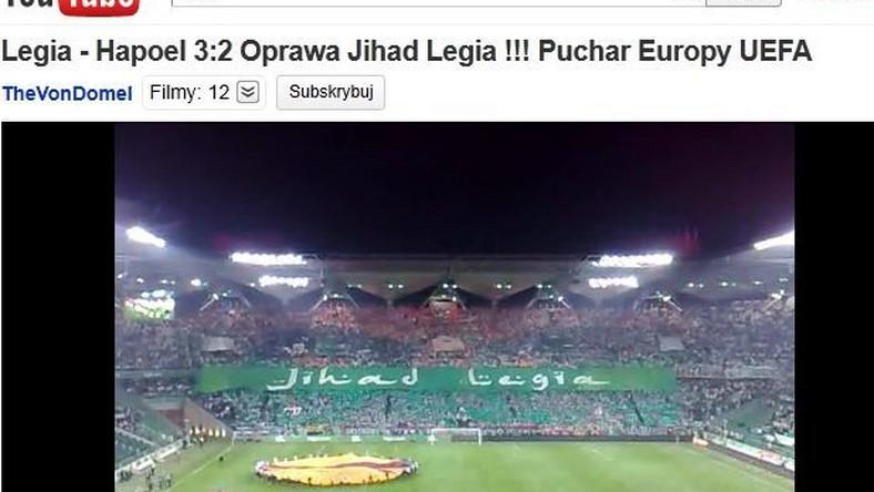 Klub została ukarany za hasło Jihad Legia
