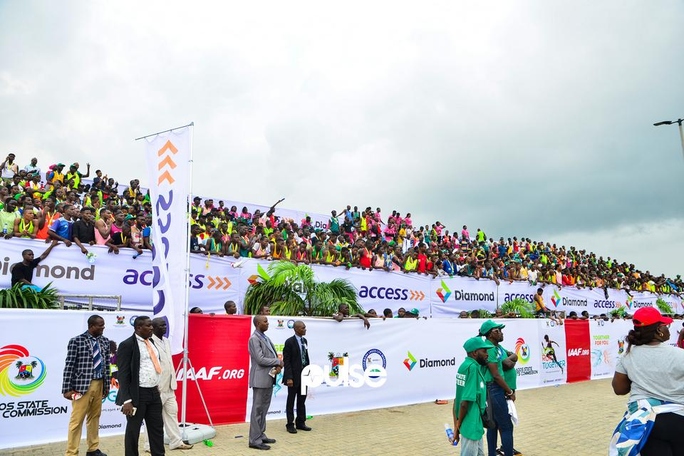 Crowd at Access Bank Lagos City Marathon 2019