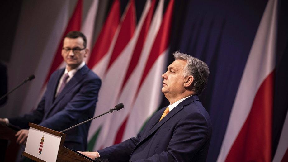 Wiktor Orban i Mateusz Morawiecki