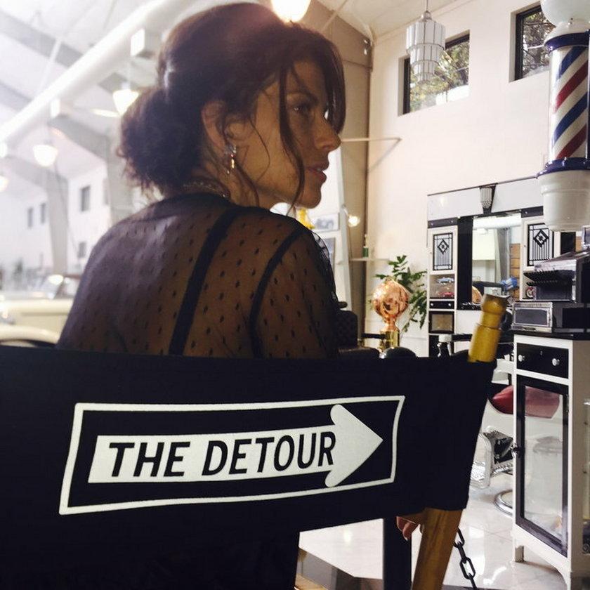 Weronika Rosati na planie serialu DeTour