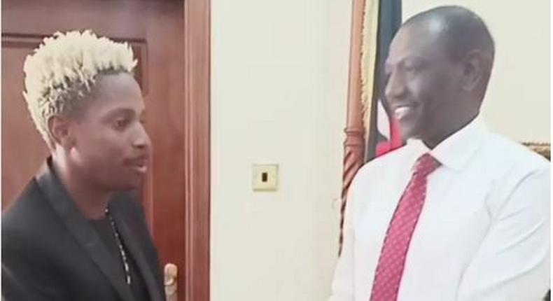 Eric OmoniI with DP Ruto