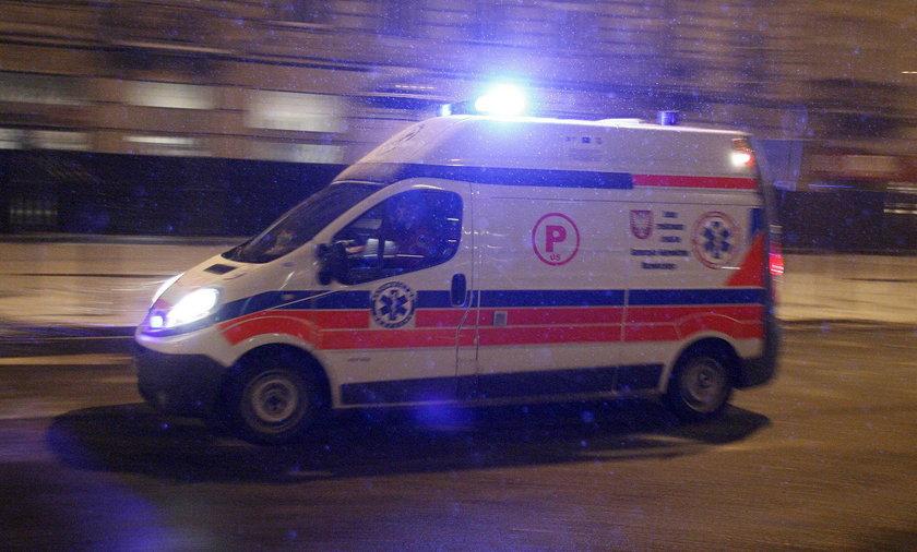 Tragiczny wypadek na Bielanach. Pieszy zmarł