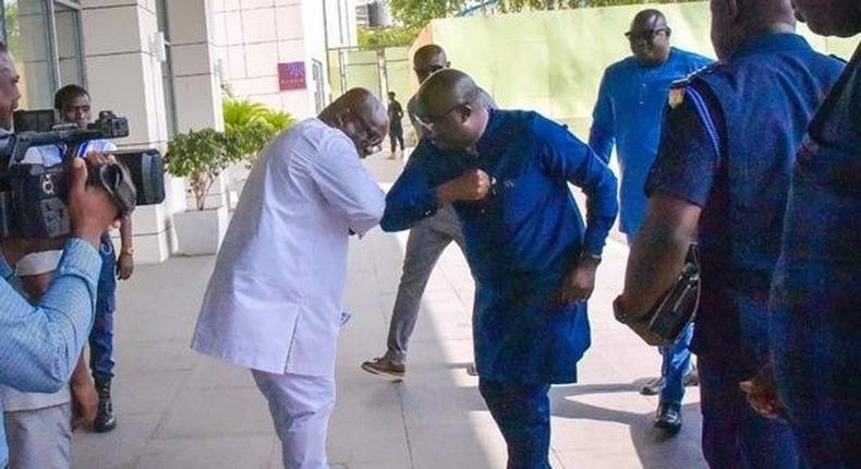 Ghana's Vice President, Bawumia's new greeting style