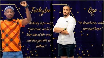 BBNaija 2020: Twitter reacts to TrikyTee and Ozo's eviction from Big Brother's house