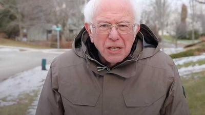 Bernie Sanders revived an iconic meme from his 2019 presidential campaign to urge Americans to get vaccinated