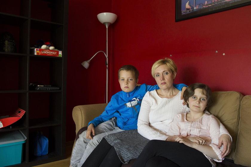 Ludmila Kolesnyk z dziećmi