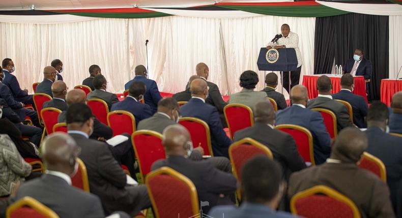 Uhuru Kenyatta meets Cabinet Secretaries, CASs & Principal Secretaries after reshuffle