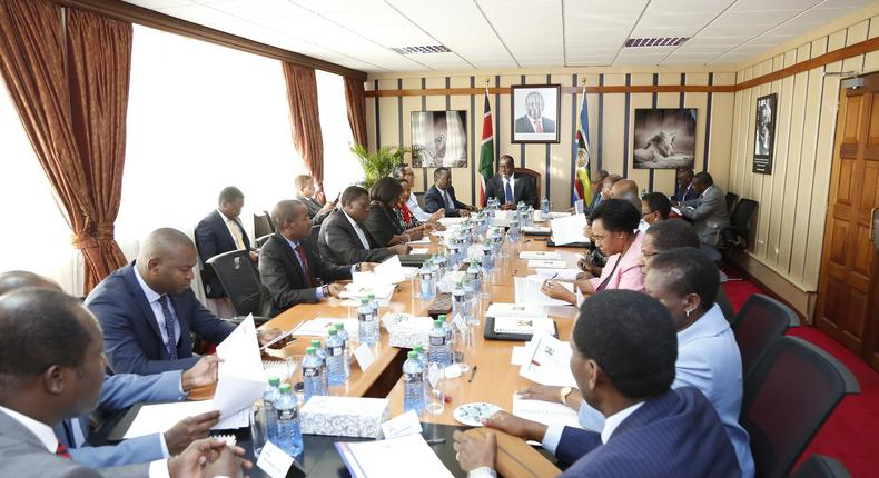 CS Fred Matiang'i chairs first National Development Implementation and Communication Cabinet Committee meeting at Harambee House