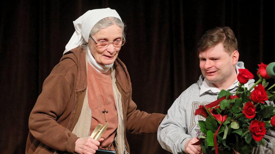 Małgorzata Chmielewska z podopiecznym Arturem