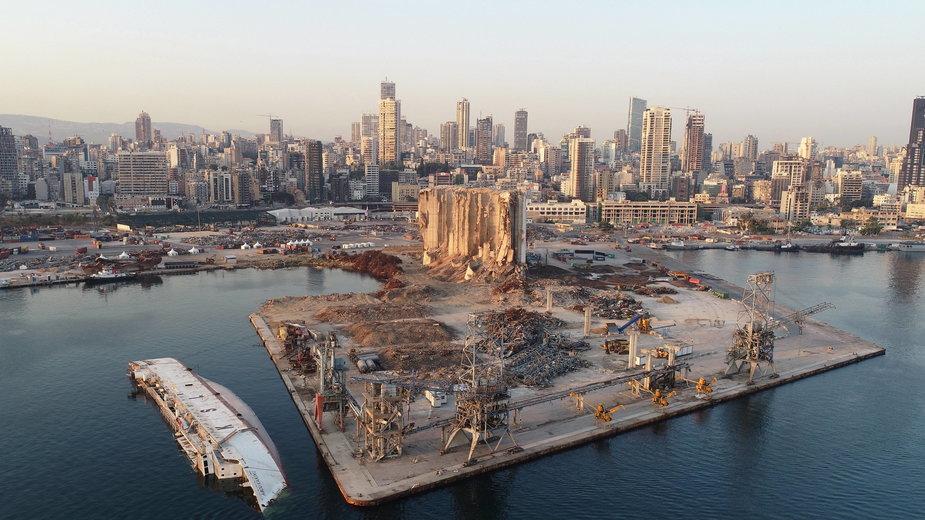 Port w Bejrucie rok po eksplozji