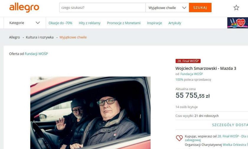 Wojciech Smarzowski oddał swoją mazdę na licytację WOŚP