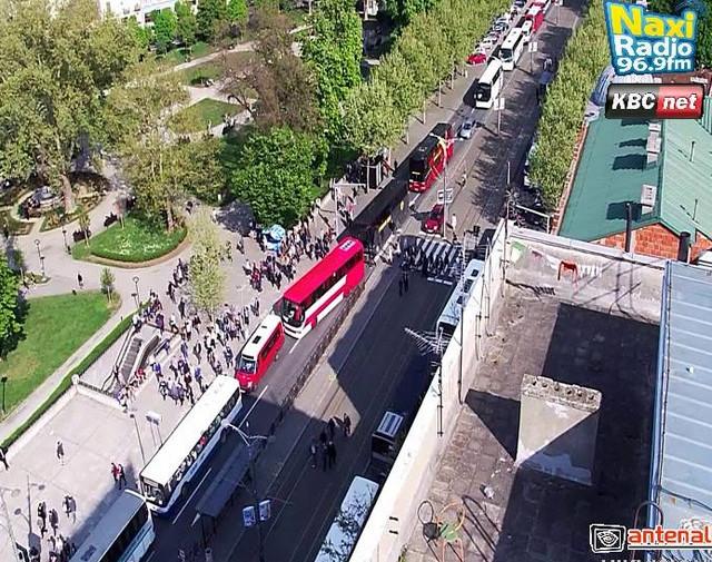 Kolone autobusa u Bulevaru kralja Aleksandra