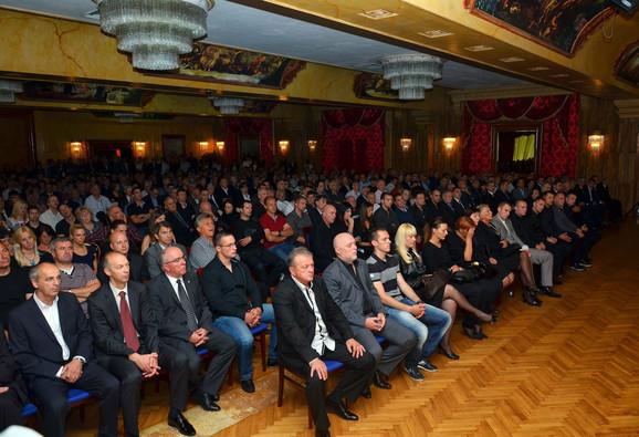 PrepunaKristalna sala hotela Park tokom komemoracije Ratku Butoroviću