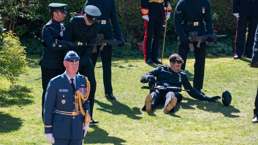 Niepokojące sceny na pogrzebie księcia Filipa