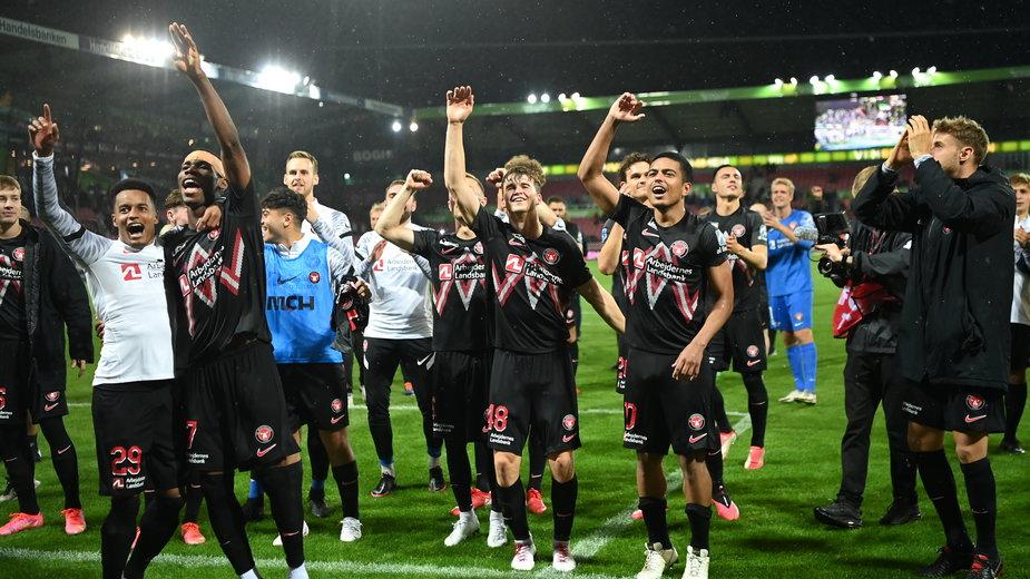 Piłkarze FC Midtjylland po awansie do 3. rundy el. Ligi Mistrzów