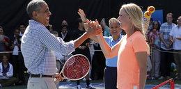 Caroline Wozniacki w tenisowej partii z samym Barackiem Obamą! Zdjęcia