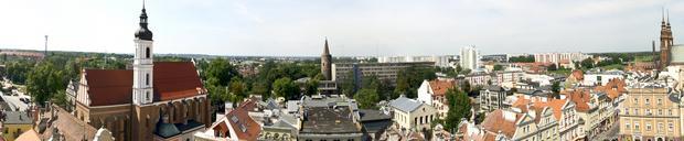 Widok z Ratusza w Opolu