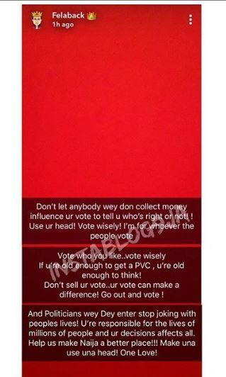 Wizkid sends a message across ahead of the general elections