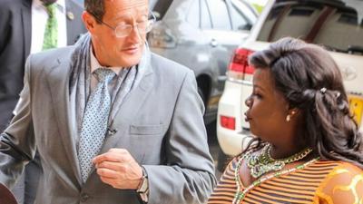 Richard Quest puts Kathy Kiuna on the spot over lavish lifestyle