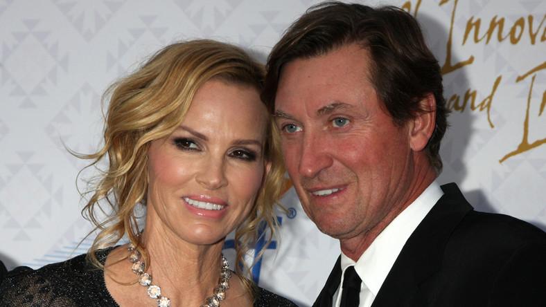 Wayne Gretzky z żoną
