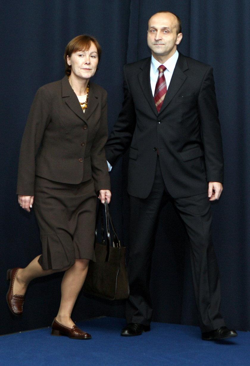 Kazimierz Marcinkiewicz z byłą żoną Marylą