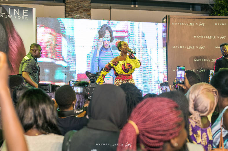 DJ Cuppy in Accra for the Maybelline event