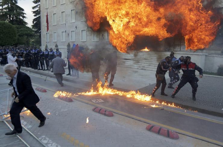 Albanija protest EPA MALTON DIBRA