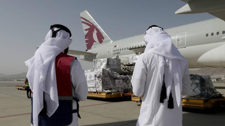 Samolot Qatar Airways w Kabulu