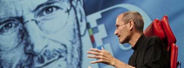 "Steve Jobs, CEO Apple Inc, przemawia na konferencji ""All Things Digital "" w Palos Verde, Kalifornia, USA"