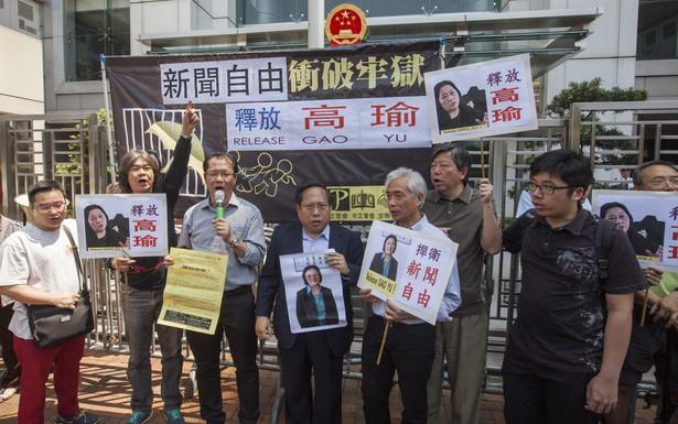 Na chińskich ulicach odbywają się protesty w obronie dziennikarki