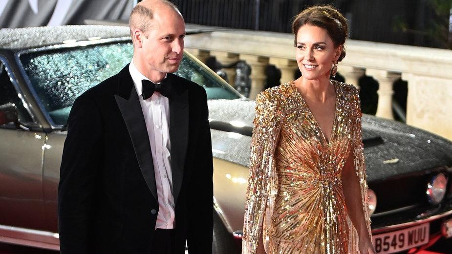 """Książę William i księżna Kate na premierze filmu """"Nie czas umierać"""""""
