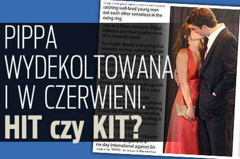 Pippa wydekoltowana i w czerwieni. Hit czy kit?