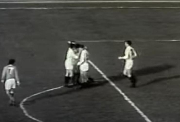 FK Partizan 1966 na meču protiv Mančester junajteda