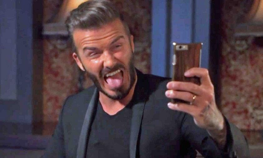 Ohydne selfie Beckhama