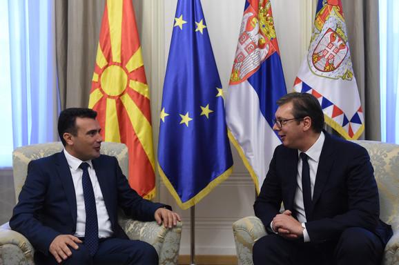 Zoran Zaev i Aleksandar Vučić