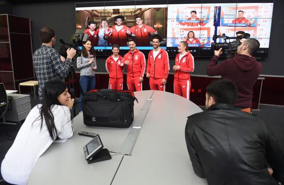 Srpski olimpijci pred novinarima i kamerama
