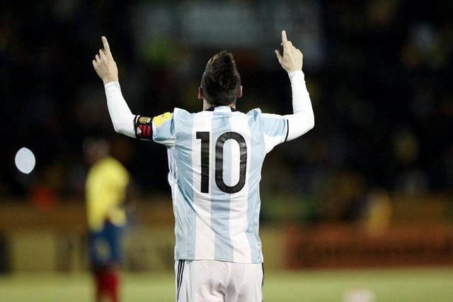Lionel Mesi slavi u Ekvadoru