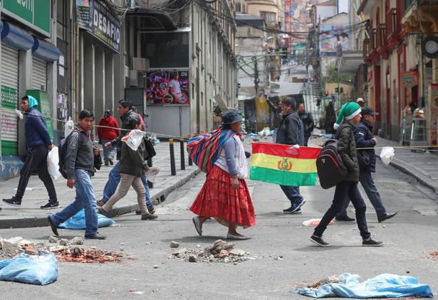 La Paz po dymisji Evo Moralesa