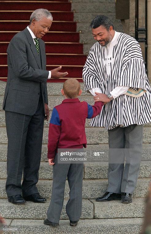 JJ Rawlings and late Nelson Mandela