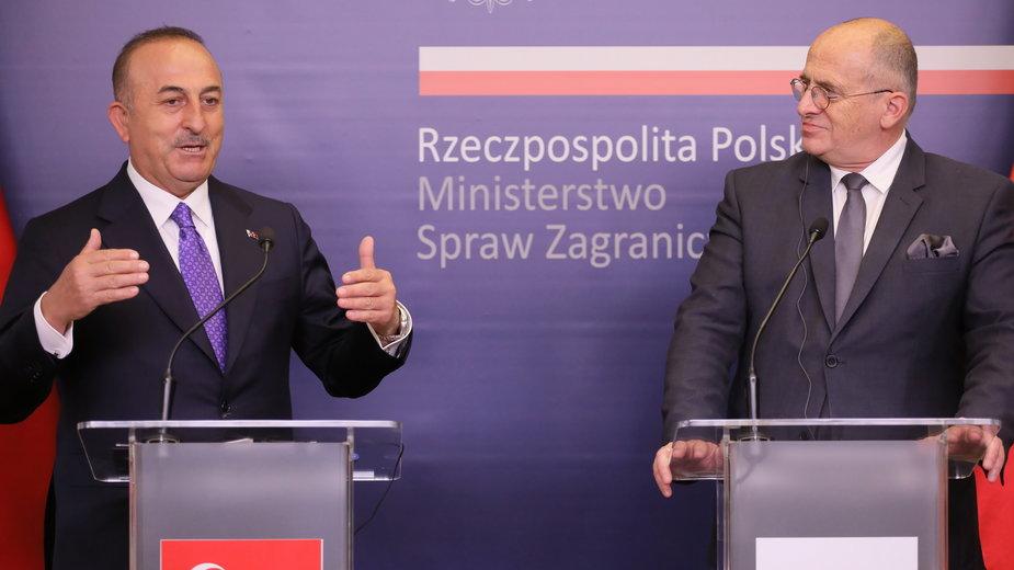 Mevlut Cavusoglu i Zbigniew Rau