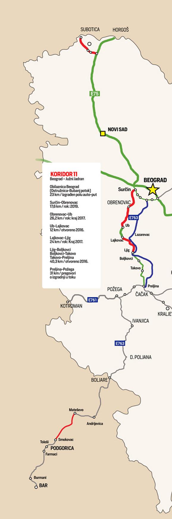 blic online mapa beograda NAJNOVIJA DETALJNA MAPA SRPSKIH AUTOPUTEVA Evo koji su delovi  blic online mapa beograda