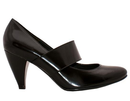 Czarne lakierki do eleganckich spodni garniturowych; Galeria Centrum; wzór