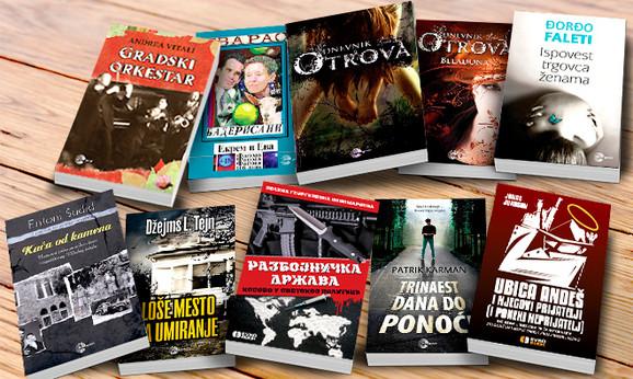 komplet knjiga različitih žanrova