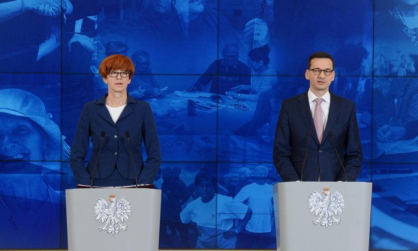 Mateusz Morawiecki i Elżbieta Rafalska